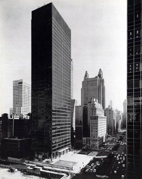 Mies van der Rohe: Seagram Building, New York, New York, 1954-1958,