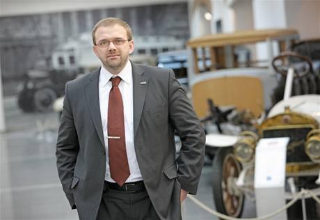 Martin Hrdlička, šéfa vývoje motorů a podvozků automobilky Škoda