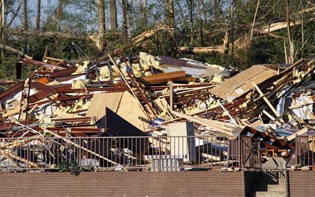 Tornádo zasáhlo město Satartia na jihu USA. (24. 4. 2010)