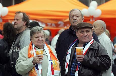 Předvolební kampaň ČSSD v Ostravě