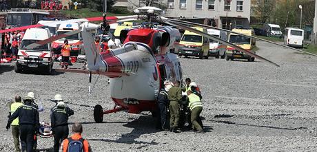 Do akce byl nasazen i vrtulník