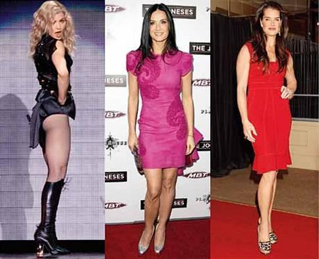 Madonna, Demi Moore, Brooke Shields