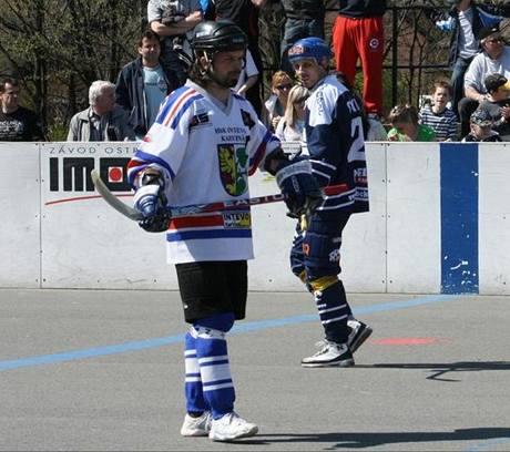 Kapitán hokejbalistů Karviné Martin Kurz.