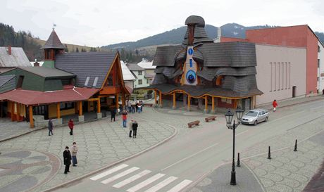 Slovensko, Stará Bystrica - náměstí