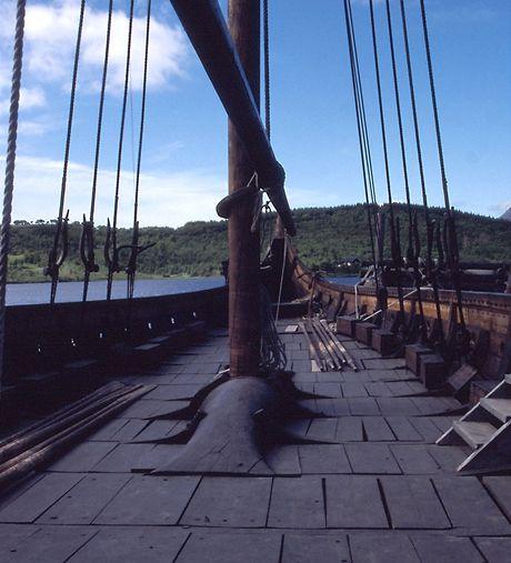 Norsko, Lofoty, replika vikingské lodi Godstad