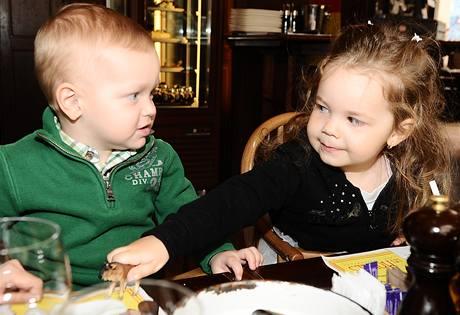 Kristian a Laura, děti Gábiny Partyšové a Lenky Hornové