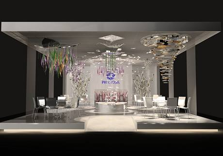 Stánek Preciosy na veletrhu Light + Building na frankfurtském výstavišti