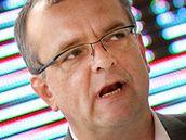 Miroslav Kalousek při zahájení předvolební kampaně strany TOP 09 v Praze. (27. dubna 2010)