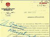 Dokumenty obsahují i dopis Stalinovi