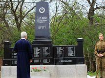 Odhalení památníku padlých Sovětů i Němců za 2. světové války v Morkůvkách.