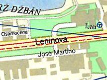 Leninova ulice (dnes Evropská) v Praze 6.