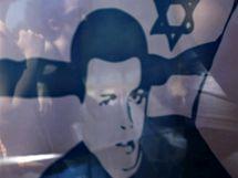Zajatý izraelský voják Gilad Šalit na plakátu při izraelské demonstraci