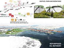 Návrh nového pobřeží Bayonne s využitím nádrží k výrobě bionafty