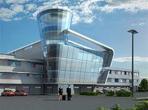 Bezpečnostní centrum. Návrh budovoy, ve které by v budoucnu měli sídlit například hasiči, policie, záchranáři, celníci ...