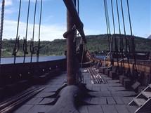 Norsko, Lofoty, replika vikingské lodi Gokstad