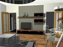 Vzdušný panelákový obývák ve skle a kovu nabízí čtyři varianty řešení