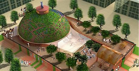 Pavilon Indie na výstavě EXPO 2010 v Šanghaji.