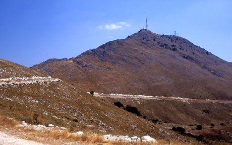 Řecko, Korfu. Pantokrator, nejvyšší vrchol ostrova