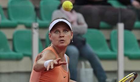 Lucie Šafářová se maximálně koncentruje.  V Římě hladce porazila Flavii Pennettaovou