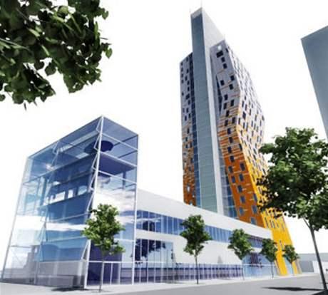 Stavba devadesátimetrové budovy AZ Tower v Brně byla kvůli krizi opožděna