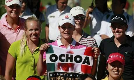 Lorena Ochoaová a její loučení na Tres Marias Championship 2010.