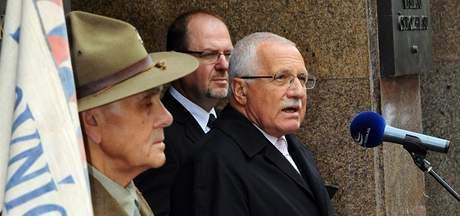 Prezident Václav Klaus při výročí bojů o rozhlas (5. května 2010)