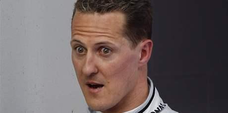 Michael Schumacher po závodě v Barceloně