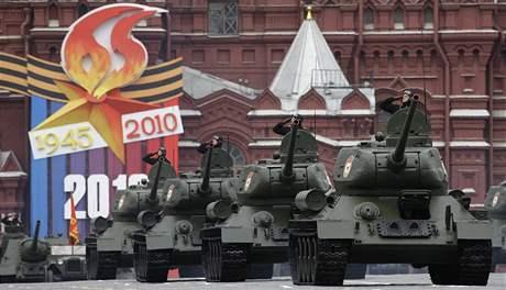 Generálka na nedělní velkolepou přehlídku na moskevském Rudém náměstí