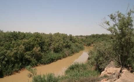 Stav řeky Jordán v roce 2009