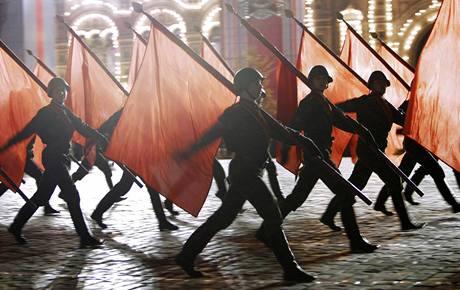 Zkoušky oslav Dne vítězství v Moskvě v těchto dnech vrcholí. (4. května 2010)