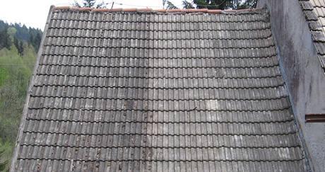 Střecha před a po aplikaci