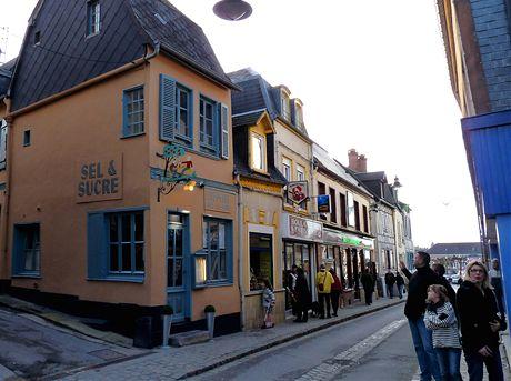 Populární palačinkárna v Saint Valéry