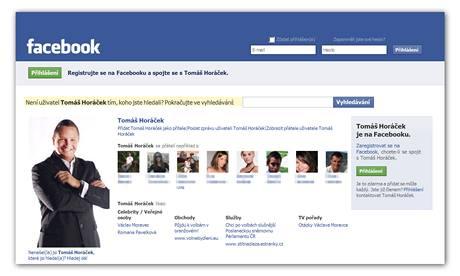 Osobní profil Tomáše Horáčka na Facebooku.