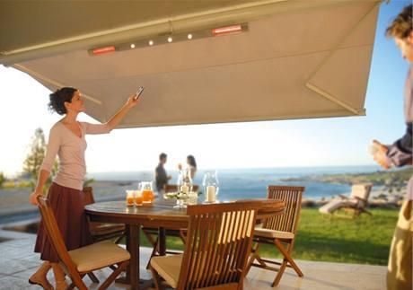 Tepelné infrarampy mohou mít i dálkové ovládání