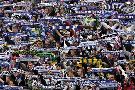 Ostravští fanoušci na zápase se Spartou (2. května 2010)