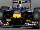 Sebastian Vettel při tréninku na Velkou cenu Španělska.