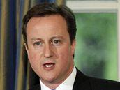 David Cameron při povolebním vystoupení (7. května 2010)