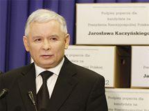 Kandidát na polského prezidenta Jaroslaw Kaczynski (6. května 2010)