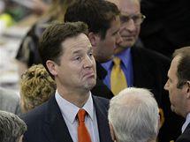 Šéf britských liberálních demokratů Nick Clegg (7. května 2010)