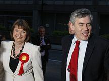 Šéf britských labouristů Gordon Brown (7. května 2010)