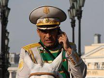 Turkmenský generál na oslavách 65. výročí vítězství v II. světové válce v Moskvě (9. května 2010)