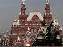 Přehlídka na Rudém náměstí při oslavách 65. výročí vítězství v II. světové válce (9. května 2010)