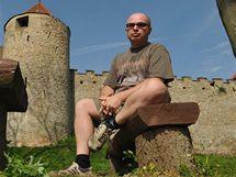 Jiří Hlavenka na hradě Veveří