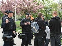 Dělnická strana se schází na náměstí Jiřího z Poděbrad