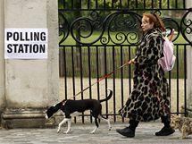 Parlamentní volby v Británii. Na snímku volička v Londýně (6. května 2010)