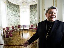 Kardinál Dominik Duka v Arcibiskupském paláci na Hradčanském náměstí v Praze.