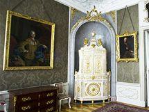 Interiér Arcibiskupského paláce na Hradčanském náměstí v Praze.
