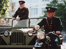 Členové Klubu vojenské historie při rekonstrukci bojů z 2. světové války