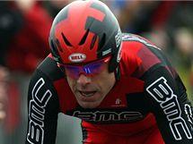 Cadel Evans na trati úvodní časovky závodu Giro d´Italia.