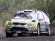 Jarri-Matti Latvala na trati Rallye Nový Zéland.